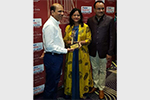 Revieving Solitaire Club Member Award from Mr. Nimesh Shah ICICI AMC MD